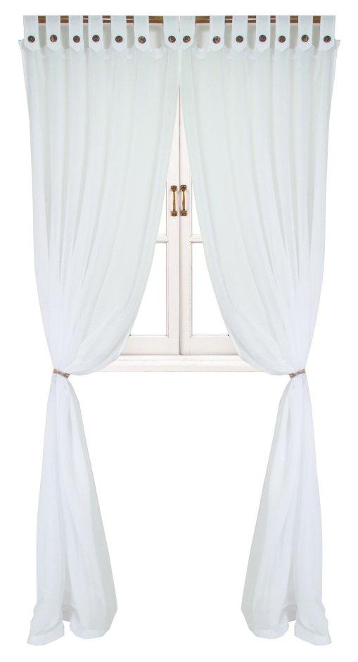 прованс Гардина Прованс Батист White 180х250 см 1шт Белая с декоративными пуговицами (.002173)