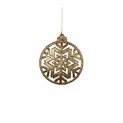 christmas house Украшение декоративное Christmas House Снежинка симметричная золотистая (8718861346749)