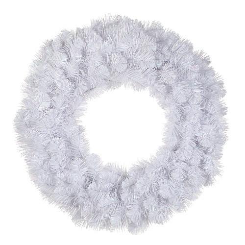 triumphtree Венок TriumphTree 45 см декоративный искусственный Icelandic iridescent белый с блеском (387030)