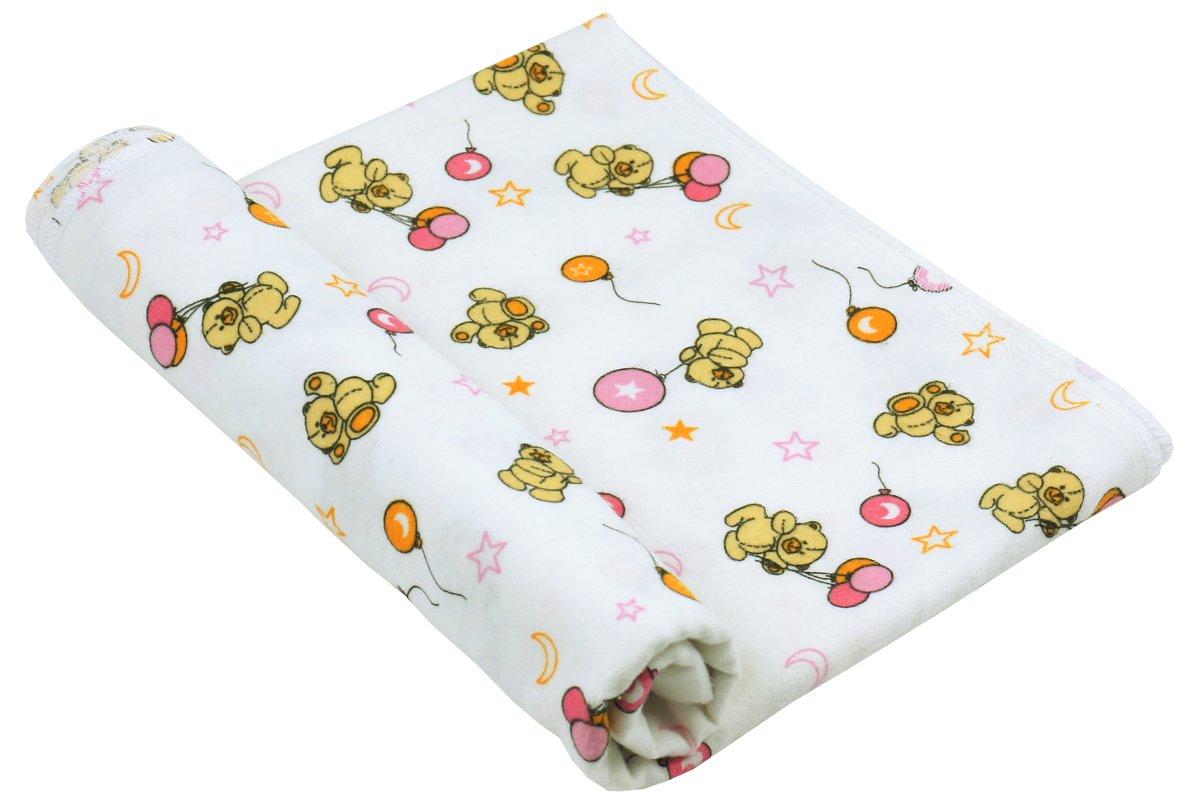 руно Пеленка Руно Хлопок 90x80 см Белая Мишка с шариком (203.05_215-1)