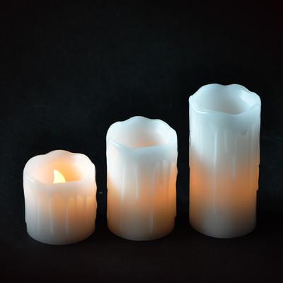 mica decorations Комплект 3-х свечей декоративных Mica Decorations белые (8712799937918)